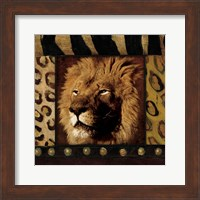 Framed Lion with Wild Border