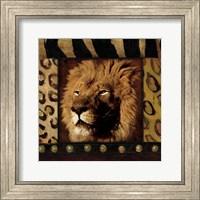 Framed Lion with Wild Border