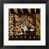 Framed Leopard with Wild Border