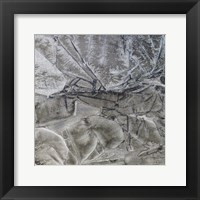 Framed Grey Abstract D