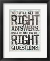 Answer 2 Framed Print