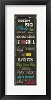 Dream Big 1 Framed Print