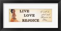 Rejoice Framed Print