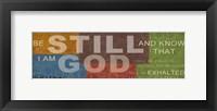 Be Still 2 Framed Print