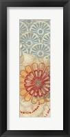 Flora Trance V Panel Framed Print