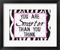 Much Smarter Zebra Framed Print