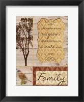 Family Tree Framed Print
