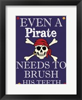Framed Pirate Must Brush