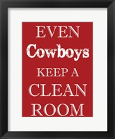Framed Cowboys Clean Room