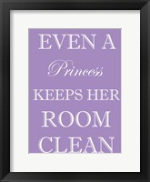 Princess Clean Room Framed Print