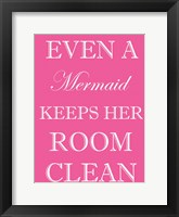 Framed Mermaid Clean Room