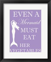 Mermaid Must Eat Framed Print