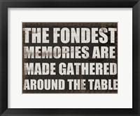 Fondest Memories Framed Print