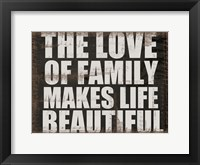 Love of Family Framed Print