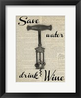 Framed Save Water