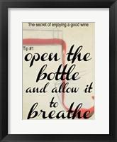 Wine Secret 1 Framed Print