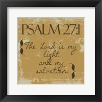 Framed Psalms 27-1 Gold