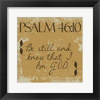 Psalms 46-10 Gold Framed Print