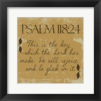 Framed Psalms 118-24 Gold