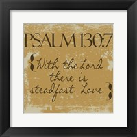 Psalms 130-7 Gold Framed Print