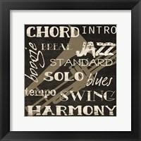 Harmony Silhouette Framed Print