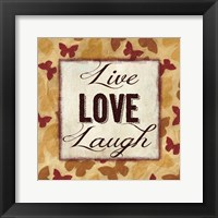 Framed Live Love Laugh 2