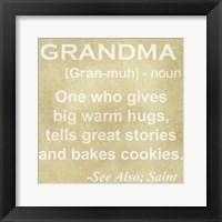 Framed Grandma Definition