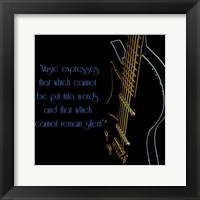 Framed Neon Square Music Quote 2