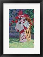 Framed Blanket & Stool