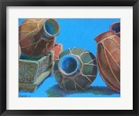 Framed Blue Pots 1