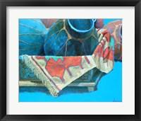 Framed Blue Pots 3