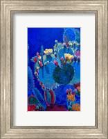 Framed Prickly Pear Blue