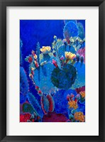 Framed Prickly Pear Blue