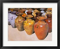 Framed Pottery Row