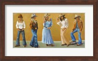 Framed Western Cowgirls