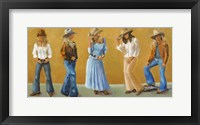 Framed Western Cowgirls