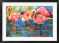 Framed Flirty Flamingos