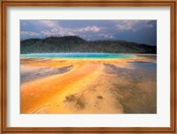 Framed Grand Prismatic Geyser, Yellowstone National Park, Wyoming