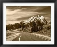 Framed Teton Range, Grand Teton National Park, Wyoming