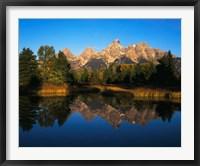 Framed Teton Range and Snake River, Grand Teton National Park, Wyoming