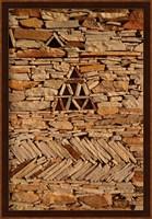 Framed Mauritania, Adrar, Chinguetti, Stone pattern