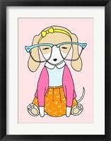 Framed Geek Dog Girl