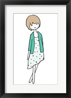 Framed Green Girl