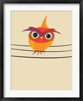 Framed Owl on a Wire