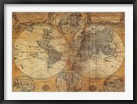 Framed Vintage Map