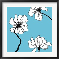 Framed Flowers in Blue 2