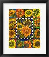 Framed Sunflower Mania