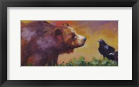 Framed Bear and Birds