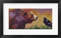 Framed Bear and Birds