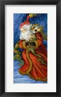 Framed Old World Santa